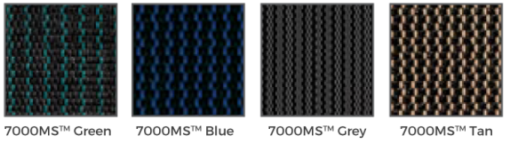 7000MS Self-Draining Mesh cover swatches